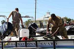 Florida National Guard sets sail