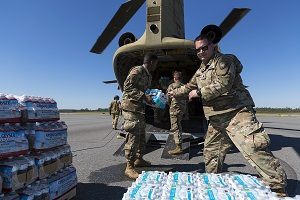 Florida National Guard Aviators deliver supplies to those in need